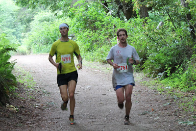 Erich Wegscheider and Galen Thompson at the 2013 Big Basin 50K.