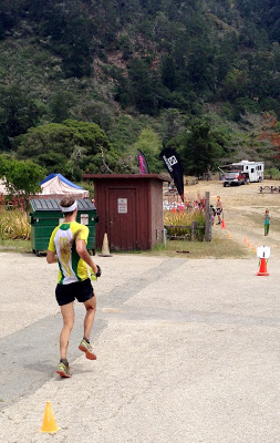 Erich Wegscheider finishing at the 2013 Big Basin 50K.