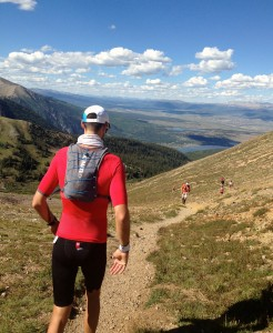 Erich Wegscheider at the top of Hope Pass at the Leadville Trail 100 Run