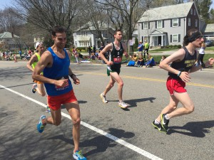 Erich Wegscheider at the 2016 Boston Marathon